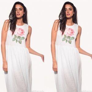 Wild fox valley girl rose maxi dress